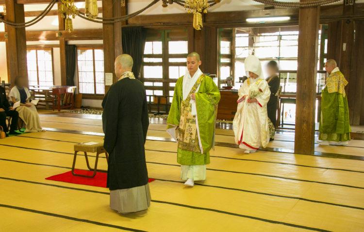光明寺の仏前結婚式