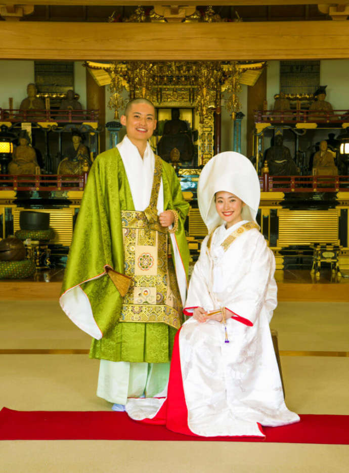 光明寺の結婚式の前撮り