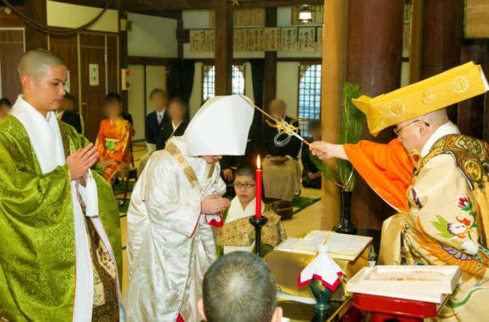 光明寺の仏前式