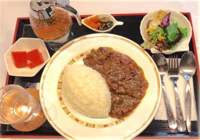 千葉県館山市にあるcafé123のはちみつカレー