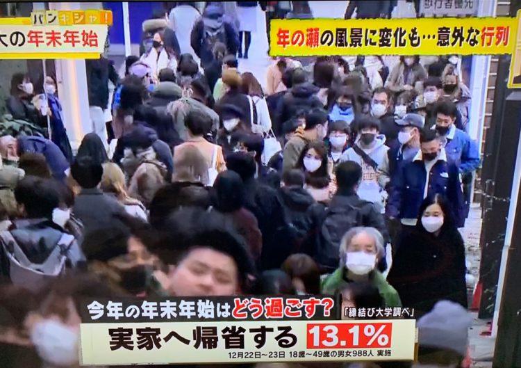 縁結び大学調べ コロナ禍で迎える年末年始の過ごし方に関する統計データ 日本テレビ「バンキシャ」にて使用された画像