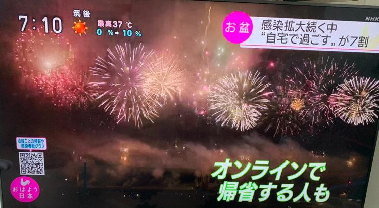 縁結び大学調べ お盆休みの過ごし方に関する統計データ NHK「おはよう日本」にて使用された画像