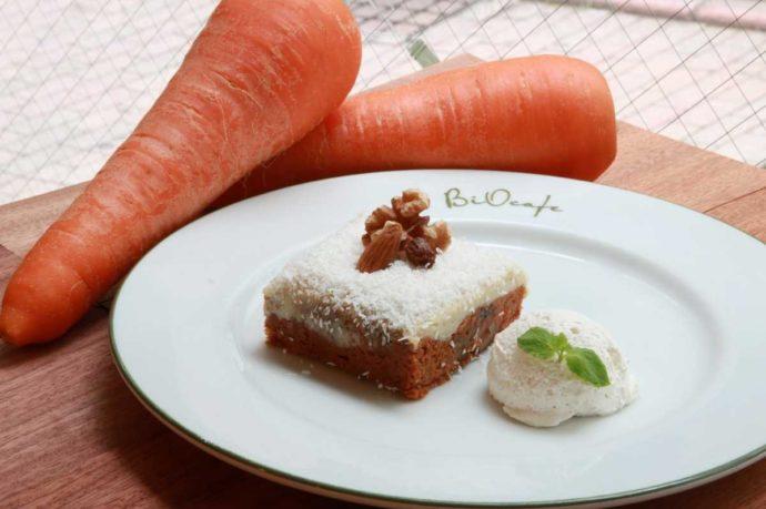 BiOcafeのキャロットケーキ