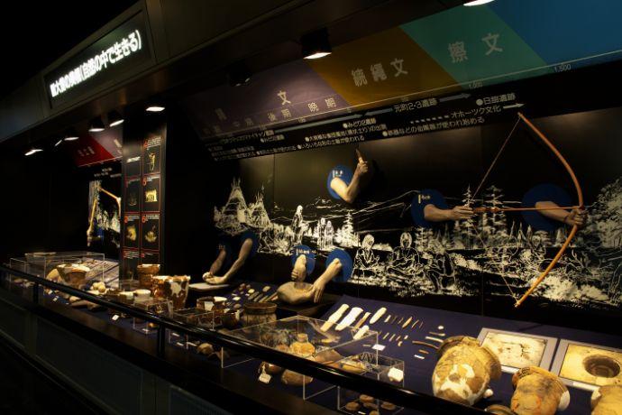 美幌博物館の歴史の展示コーナー