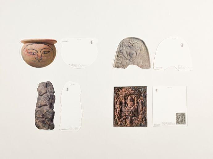 奈良文化財研究所飛鳥資料館の型抜きポストカード