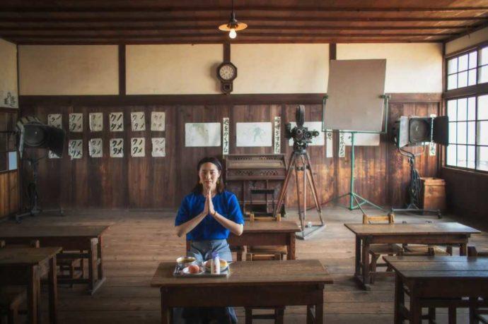 二十四の瞳映画村のレトロな教室