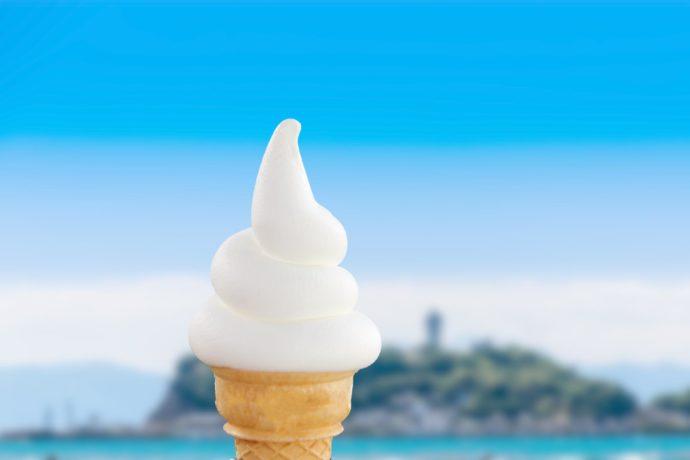 『3+3CAFE』の湘南ソフトクリーム