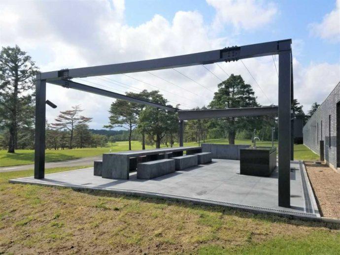 栃木県さくら市にある「セブンハンドレッドクラブ」のBBQ施設