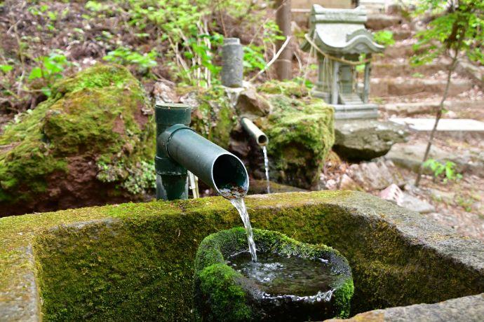 福島県耶麻郡にある磐椅神社の宝の水