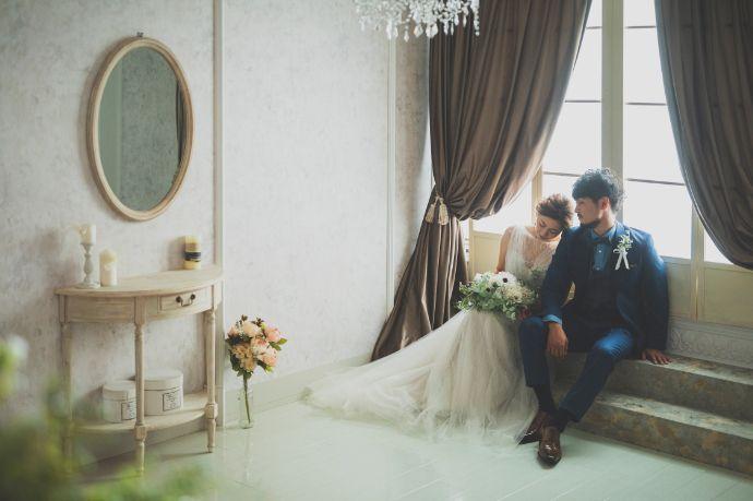 結婚写真を撮影できるフェアリーブライダルのスタジオ