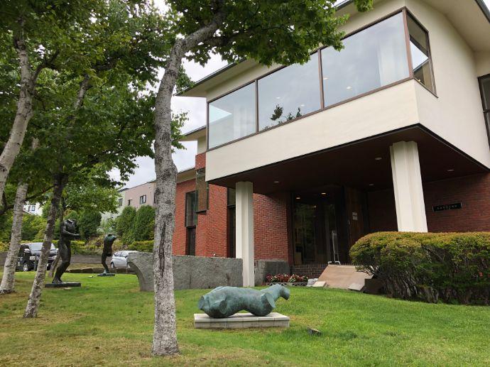 本郷新記念札幌彫刻美術館の庭園
