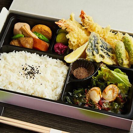 花水木の天ぷら弁当