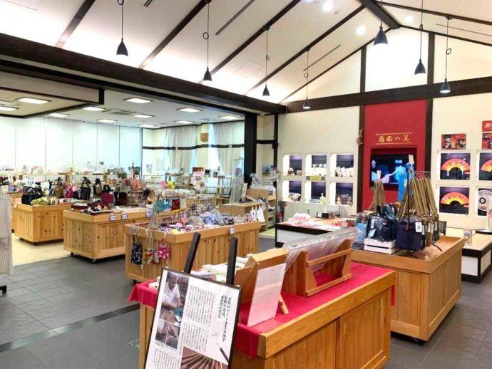 滋賀県高島市にある藤樹の里あどがわの工芸品売り場