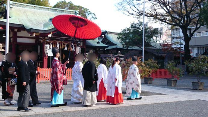 開口神社における神前結婚式の流れについて