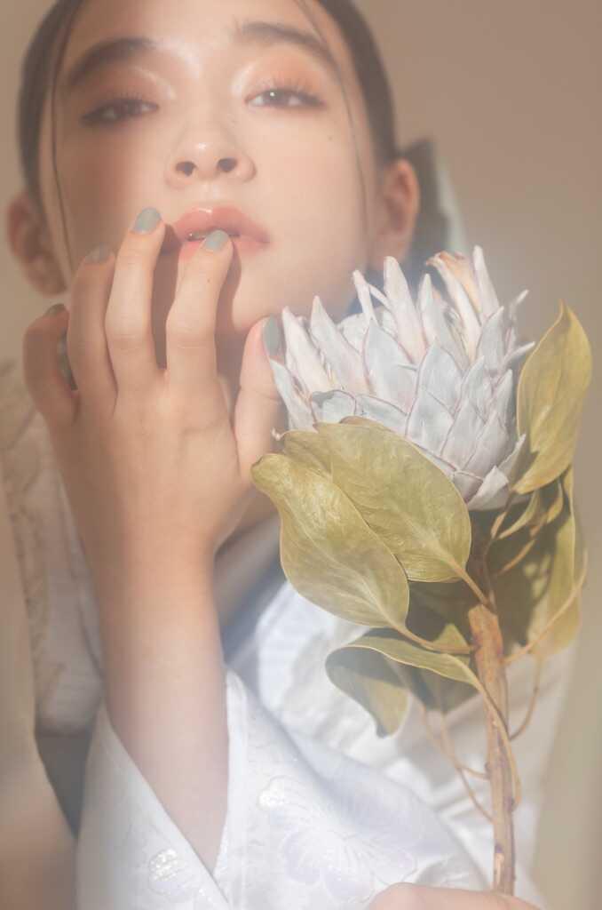 東京都渋谷区にあるaim東京原宿店で撮影した花嫁の寄りのカット