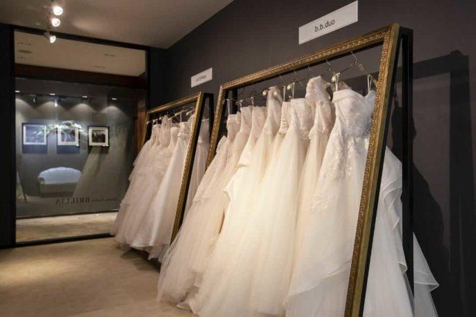 アイルバレクラブのウェディングドレスの衣装部屋