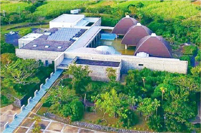 田中一村記念美術館のある奄美パーク空撮写真