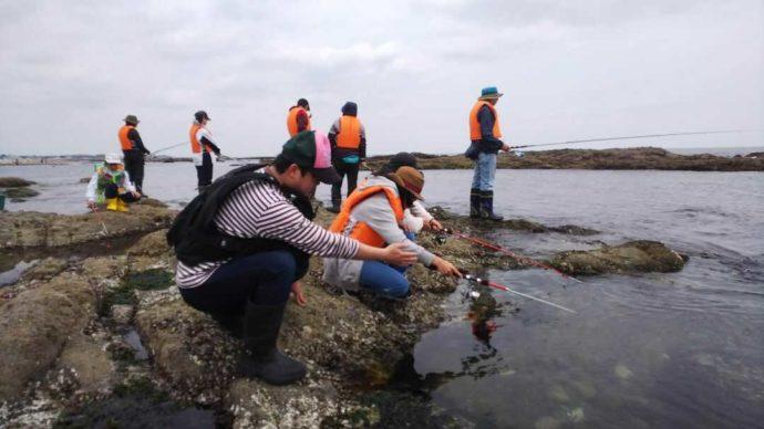 大洗海の大学の釣り教室