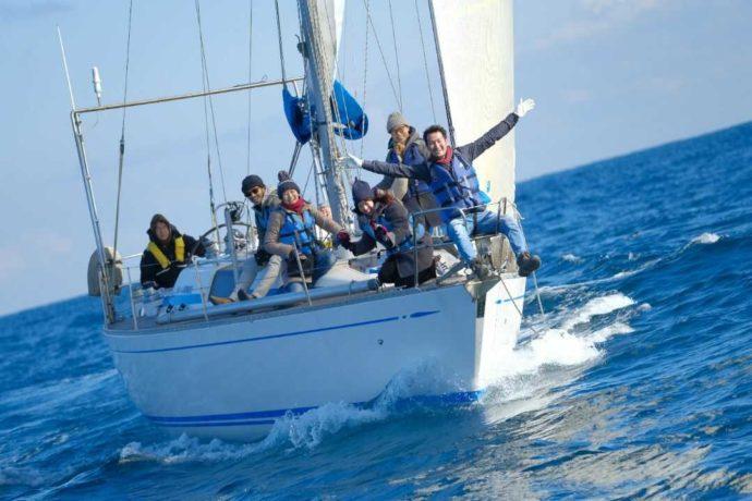 大洗海の大学のヨットクルージング体験
