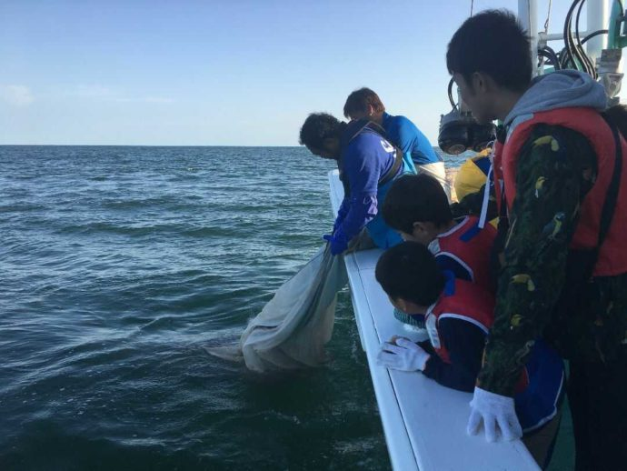 大洗海の大学の漁業体験