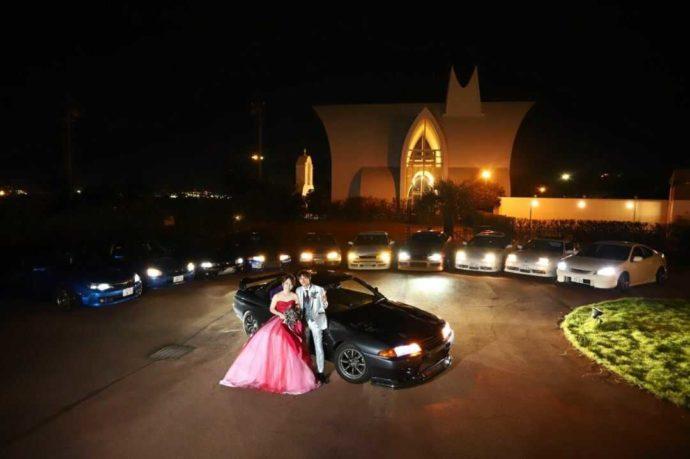 名古屋市の結婚式場「アンジェローブ」では、愛車を飾ってのお披露目が可能