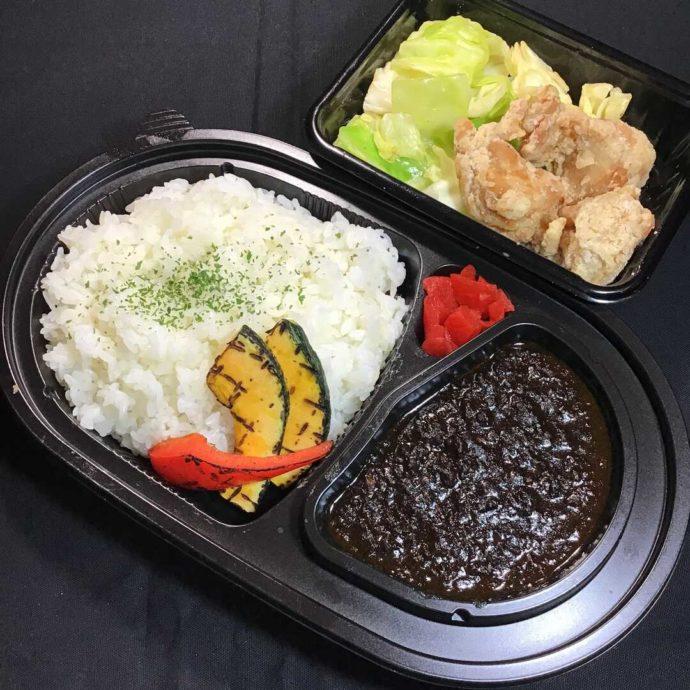 アサヒスーパードライ 名古屋の「挽肉の黒マサラカレーと鶏のから揚げのセット」