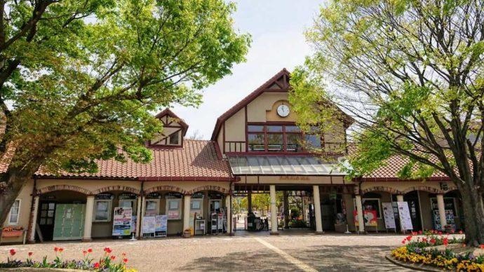 兵庫県南あわじ市にある淡路ファームパーク イングランドの丘のエントランス
