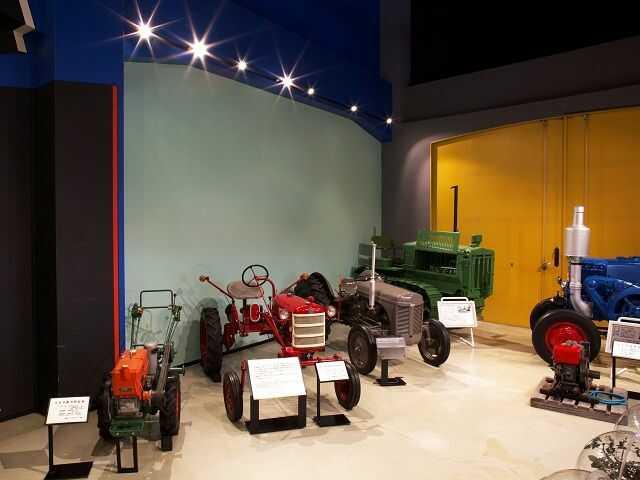 美幌博物館で見られるトラクター