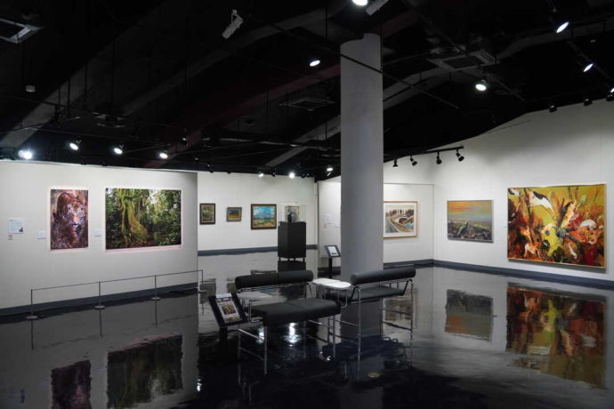 美幌博物館の展示室内観