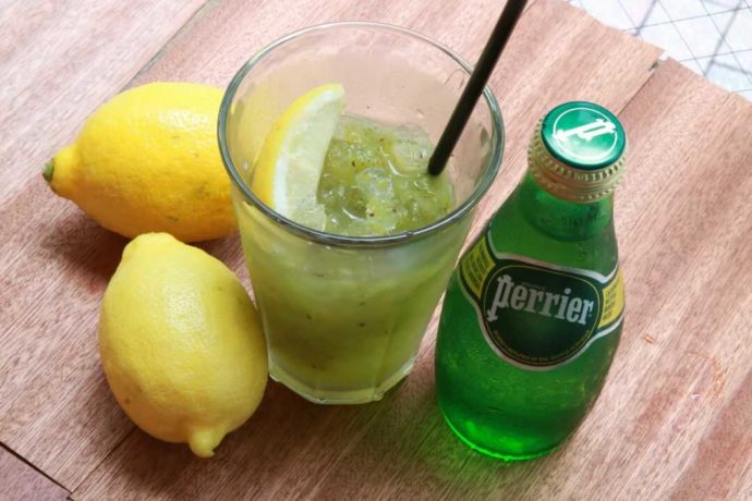 BiOcafeのドリンク「キウイレモンソーダ」