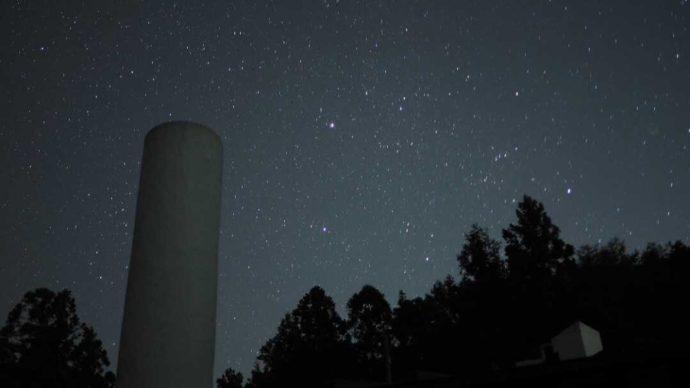 冒険の森のせで見られる満天の星空