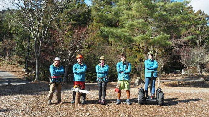 冒険の森のせではセグウェイをはじめとしたさまざまなアウトドア体験ができる
