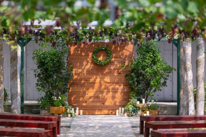 「ぶどうの木ウェディング」のガーデン挙式会場