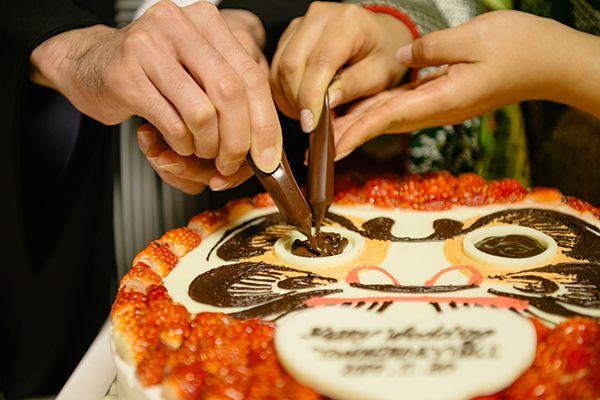 少人数結婚式が得意なチアーズブライダルのだるまケーキの演出