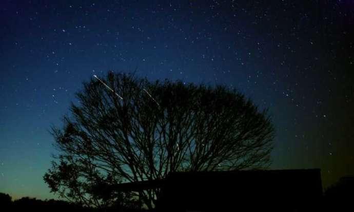 チロリン村キャンプグランドから見える星空