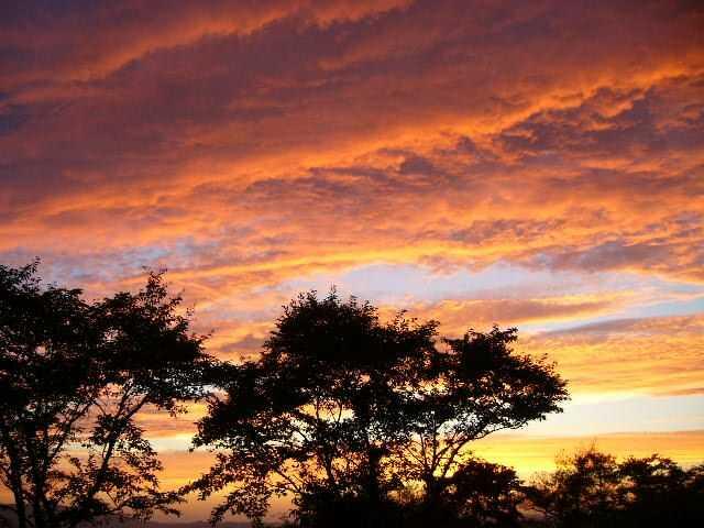 チロリン村キャンプグランドから見える夕焼け