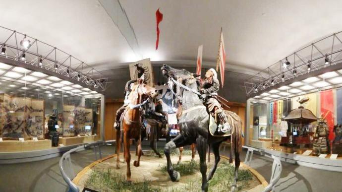 南相馬市博物館にある相馬野馬追のジオラマ