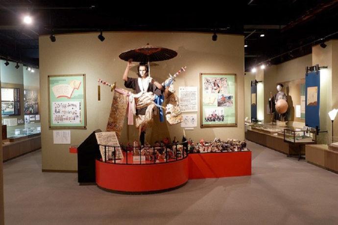 島田市博物館本館の常設展示室・島田大祭の大奴