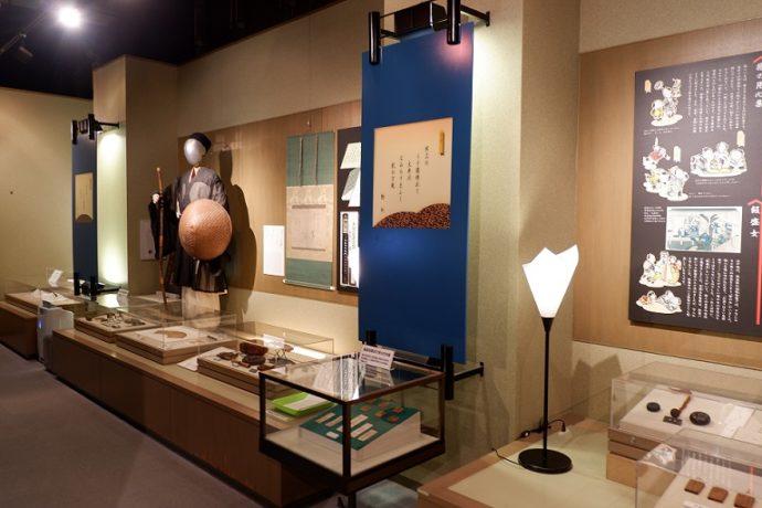 島田市博物館・常設展示室の旅人のコーナー