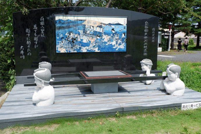 島田市博物館の連台越モニュメント