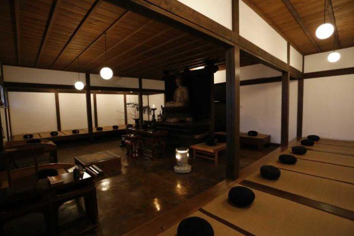 栃木県大田原市にある大雄寺の坐禅堂