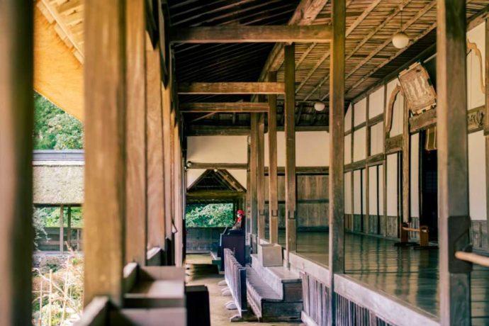 栃木県大田原市にある大雄寺の廊下となで仏