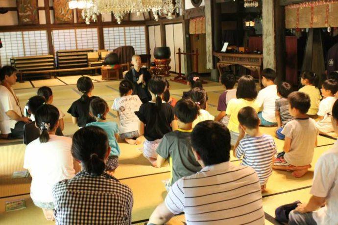 栃木県大田原市にある大雄寺での法話の様子
