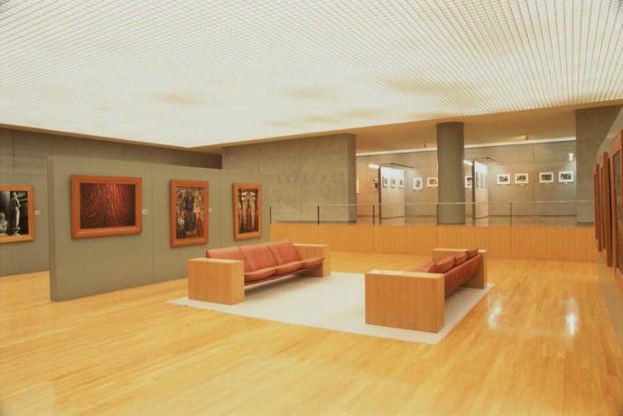 土門拳記念館の展示室