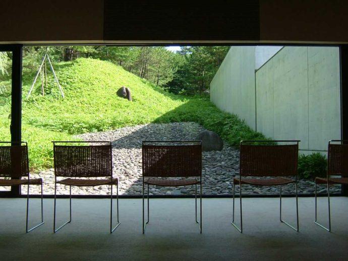 土門拳記念館の庭園「流れ」の写真