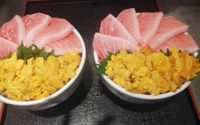 静岡県静岡市にある丼兵衛で食べられる大トロうに丼