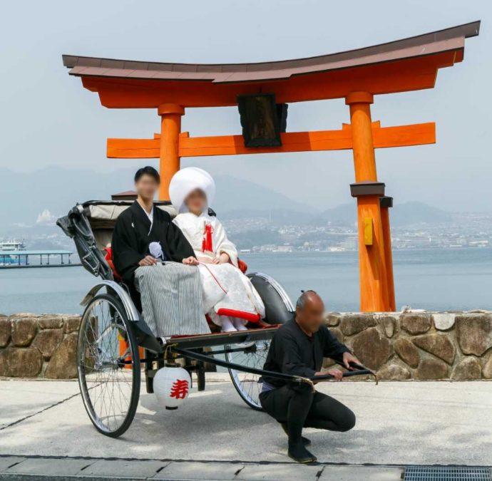 広島市南区にある結婚式場「エシェル」で行う宮島での前撮り撮影
