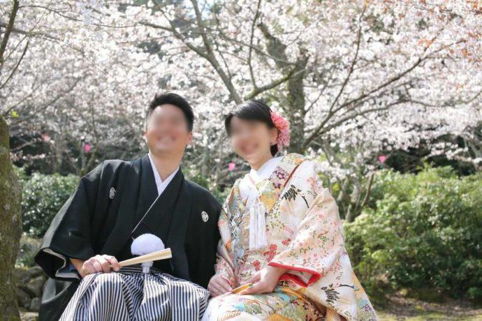 広島市南区にある結婚式場「エシェル」の和装前撮り撮影