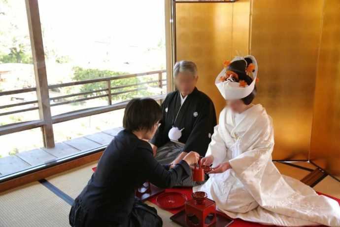 広島市南区にある結婚式場「エシェル」で利用できる「庭園の宿 石亭」の様子