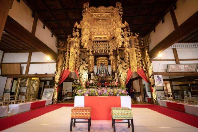 仏前結婚式ができる曹洞宗 永松山 龍泉寺の本尊
